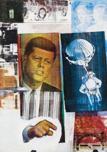 Robert Rauschenberg 1963: Retroactive II (detail). Museum of Contemporary Art Chicago. Partial gift of Stefan T. Edis and H. Gael Neeson © Robert Rauschenberg Foundation, New York.hoto: Nathan Keay © MCA Chicago